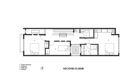 Four Bedroom House Plans One Story la casa lineal green dot architects plataforma