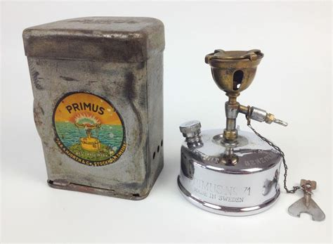 Vintage 1930s Primus 71 Camping Stove  Chrome WW2 Sweden Cooking Steampunk 1940s