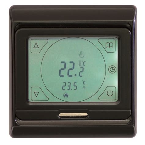 comfort zone thermostat comfortzone touch screen thermostat black 5257 comfort