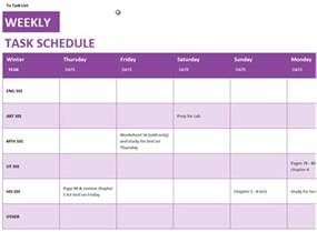 template for a schedule daily schedule office templates