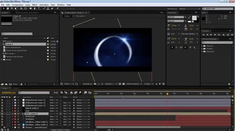tutorial after effect intro after effects intro tutorial spinning ring youtube