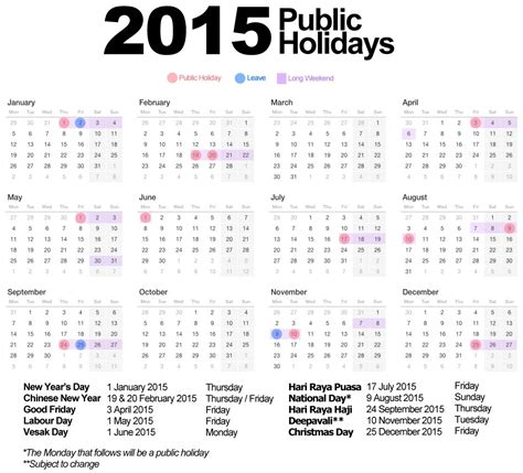 2015 year planner printable malaysia calendar 2015 with holidays calendar template 2016