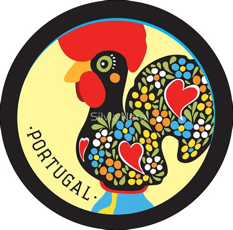 Wall Sticker Baby quot symbols of portugal rooster quot stickers by silvia neto