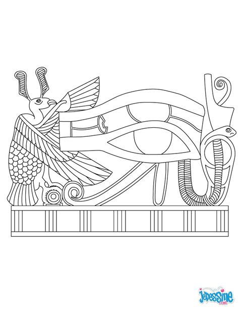 coloring pages egyptian mummies coloriages oeil d horus fr hellokids com