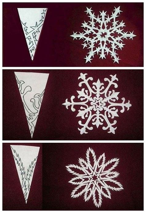 How To Fold And Cut Paper Snowflakes - diy origami paper cut snowflakes holidays special