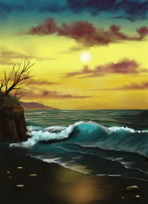 bob ross painting seascape remembering painter bob ross theo s digital