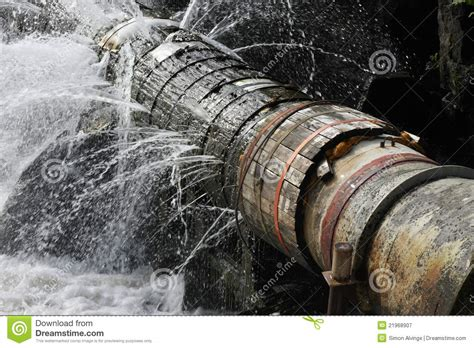 Leaking Pipe Leaking Pipe Stock Image Image Of Disaster