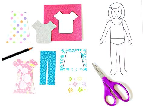 How To Make A Paper Doll Dress - how to make paper dolls with downloadable patterns how
