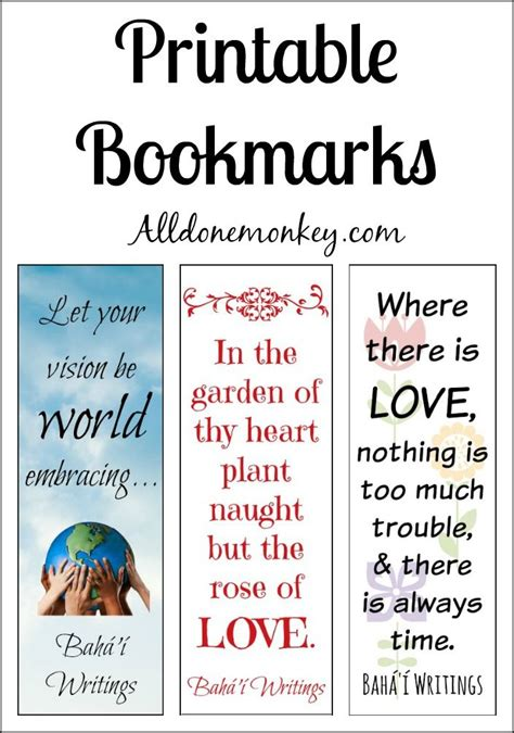 printable bookmarks with inspirational quotes printable bookmarks for ayyam i ha printable bookmarks