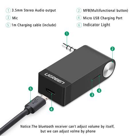 Bluetooth Audio Receiver Bt 350 1 מוצר ugreen wireless bluetooth receiver 3 5mm bluetooth audio receiver adapter car
