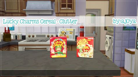 sims 4 food clutter ajoya s simblr lucky charms cereal box simlish