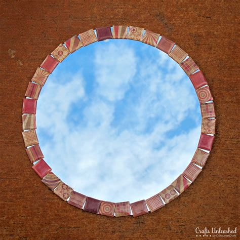 mirror craft for make your own tiled diy mirror