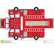 Fire Truck Cutout Stock Vector  Image 43248711