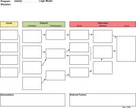 logic model template microsoft word logic model template 2 for free tidyform