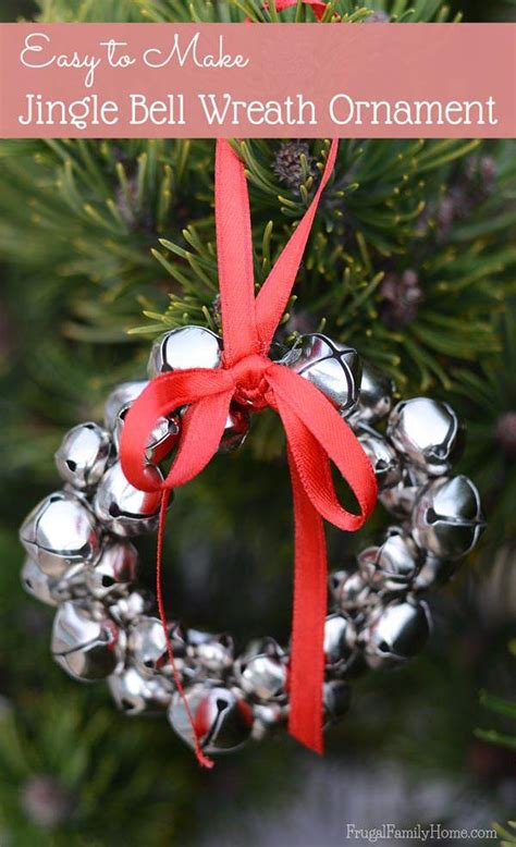 easy to make jingle bell wreath ornaments