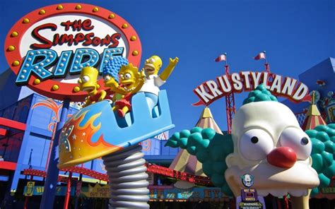 theme park on the simpsons simpsons orlando video de simpsons at universal studios