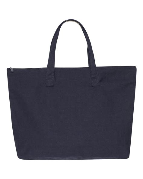 canvas zipper tote liberty bags 10 ounce cotton canvas tote with zipper top