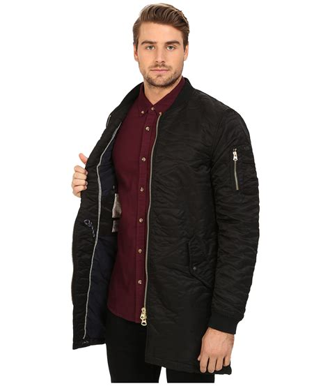 Nerina Black Bomber Jacket lyst scotch soda quilted bomber jacket in black for