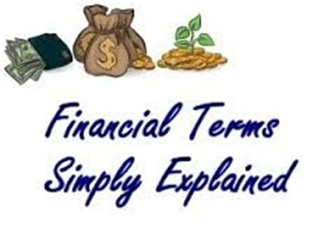 Basic Financial Terms For Mba by Some Basic Financial Terms Economycanada123