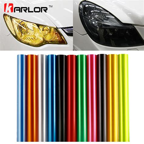 Kanvas Lukis 100cm X 100cm 30cm x 100cm auto car tint headlight taillight fog light vinyl smoke sheet sticker cover