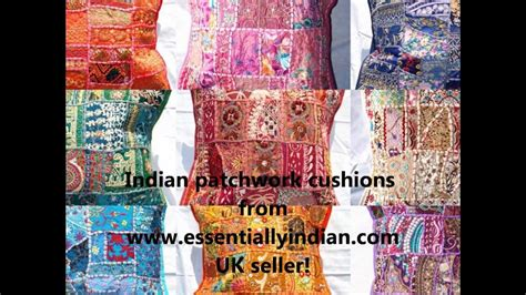 indian patchwork cushions by essentially indian
