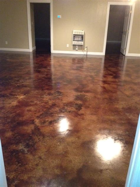 Staining Basement Floor by How To Acid Staining Basement Floors Direct Colors Inc