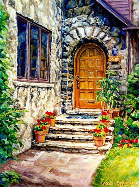 Home Decor Montreal Westmount Montreal Street Scene Painting By Carole Spandau