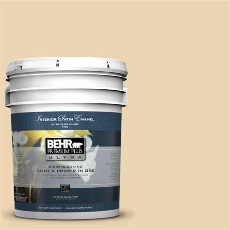 behr premium plus ultra 5 gal 340e 3 bavarian satin enamel interior paint 775005 the