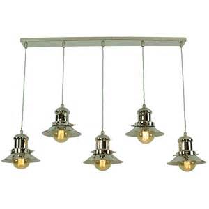 Pendant Light Fixtures For Kitchen Island Vintage Fisherman Style Kitchen Island Pendant With 5 Hanging Lights