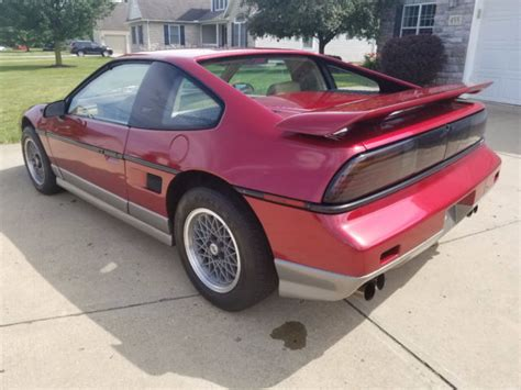 car owners manuals free downloads 1987 pontiac fiero instrument cluster 1987 one owner pontiac fiero gt with 21k miles 5sp manual 100 complete classic pontiac