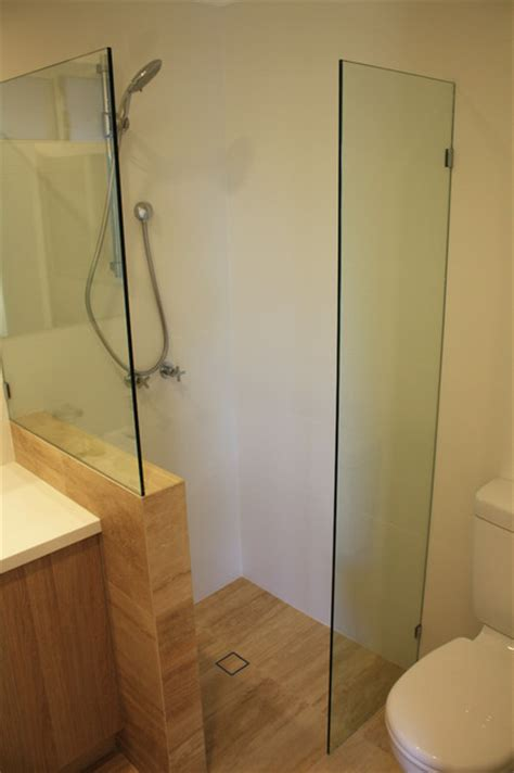 very modern bathrooms our very small ensuite renovation