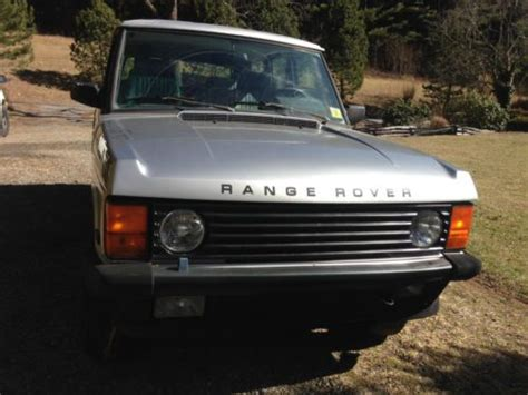 how does cars work 1987 land rover range rover on board diagnostic system find used 1987 land rover range rover sport utility 4 door 3 5l in clyde north carolina united