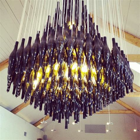 How To Make Wine Bottle Chandelier 25 Creative Wine Bottle Chandelier Ideas Hative
