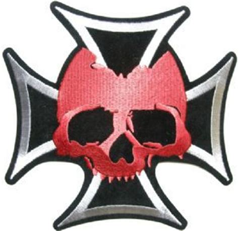 red skull on iron cross iron cross pinterest cancel