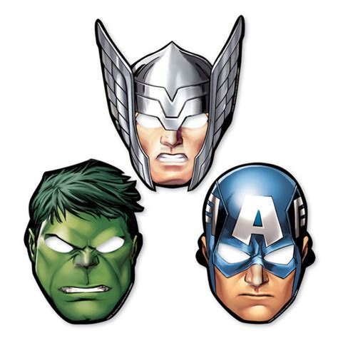 Marveila Baby Eye Mask Berkualitas 8 x marvel assemble paper masks thor cpt america 13051469412 ebay