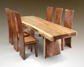 solid wood dining sets oak chunky