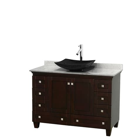 48 In Bathroom Vanity Wyndham Collection Wcv800048sescmgs4mxx Acclaim 48 Inch Single Bathroom Vanity In Espresso