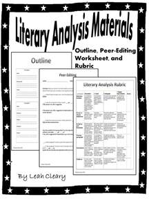 literary analysis handouts paragraph worksheets and
