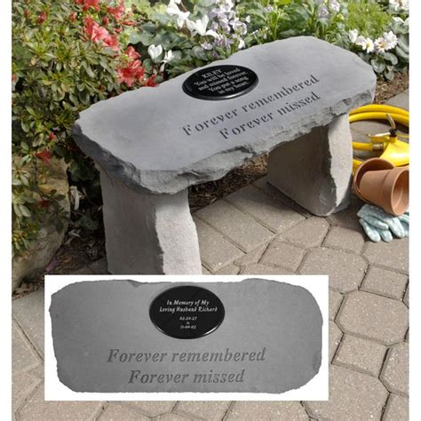 outdoor memorial plaques for benches garden bench with personalized marble memorial plaque