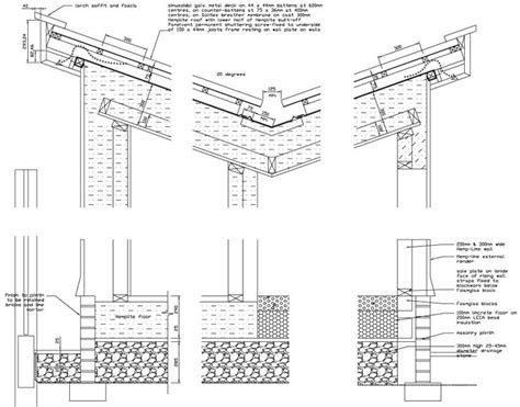 roof section detail butterfly roof construction detail drawings pinterest