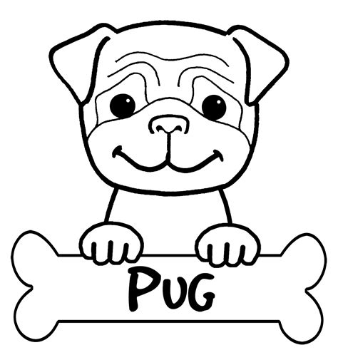 pin pug puppy coloring pages on pinterest