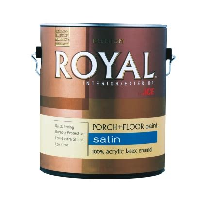 royal interior exterior satin porch floor paint gallon enamels ace hardware