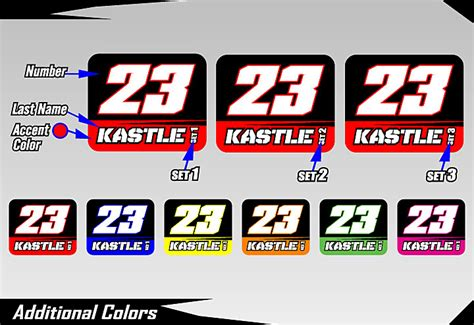 Auto Decal Numbers by Cage Graphix Race Car Graphics Race Car Numbers
