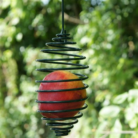 Spiral Bird Feeder hanging apple bird feeder by wildlife world eco gifts