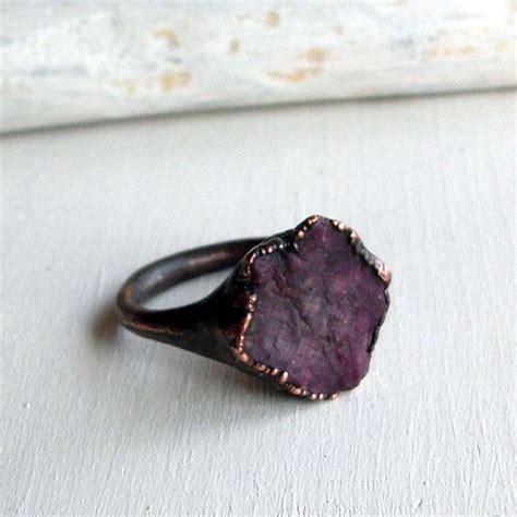 Dparis Violet Ring ruby copper ring purple violet gem