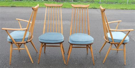 ercol armchair cushions set of four ercol light elm highback dining chairs
