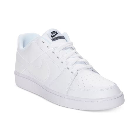 white nike sneakers mens nike backboard low casual sneakers in white for lyst