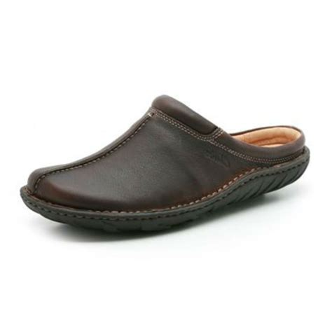 mens leather clogs mens clarks sale vaso move brown leather casual clog style sandals ebay
