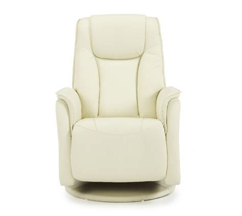 serene tonsberg cream faux leather recliner chair  serene furnishings