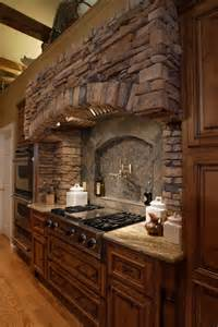 Stone stove hood google search kitchen remodel pinterest range